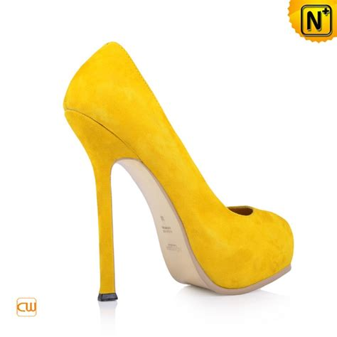 Sneaker Wedges Yellow Trendy Elegan s designer shoes pumps classics platform yellow leather high heels shoes cw275045