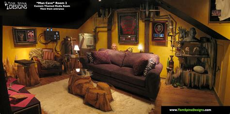 custom home decor custom man cave horror themed home theater movie prop