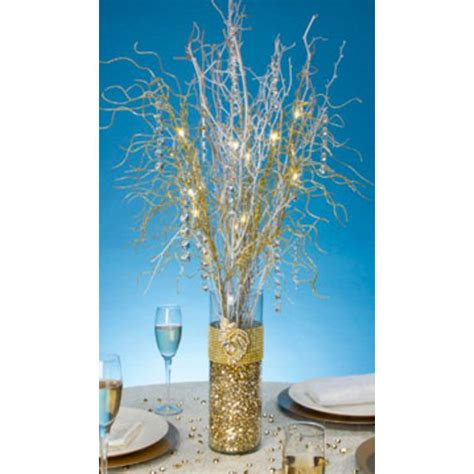 lighted for battery operated led lighted branch spray in gold2