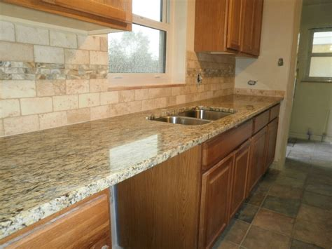 Kitchen Backsplash Ideas With Santa Cecilia Granite by Integrity Installations A Division Of Front