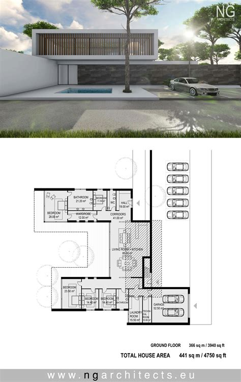 modern architecture floor plans modern house plan villa unity designed by ng architects