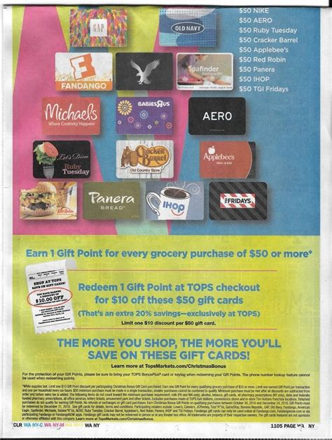 tops markets christmas bonus 20 off holiday shopping gift cards new promo breakdown - Tops Gift Card Promotion