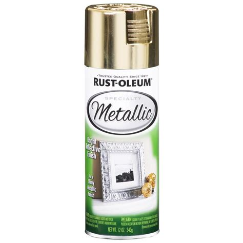 shop rust oleum 11 oz metallic gold spray paint at lowes