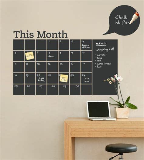 diy chalkboard decal chalkboard wall calendar with memo vinyl wall by simpleshapes