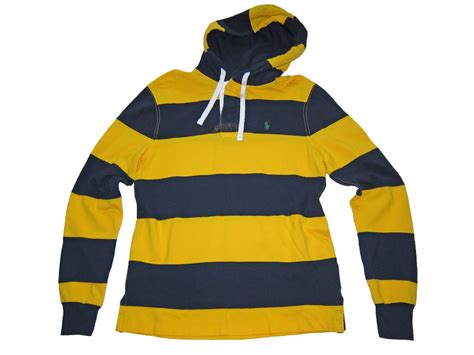 Ls 29 Sweatshirt Navy Mix Stripe polo ralph navy blue yellow rugby stripe hooded