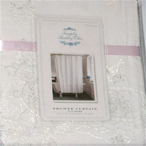 simply shabby chic cutwork fabric shower curtain white ebay