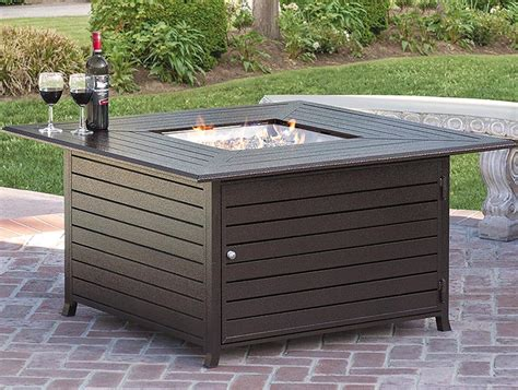 outdoor pit reviews bcp extruded aluminum gas outdoor pit table