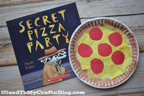 Paper Plate Food Crafts - paper plate pizza kid craft