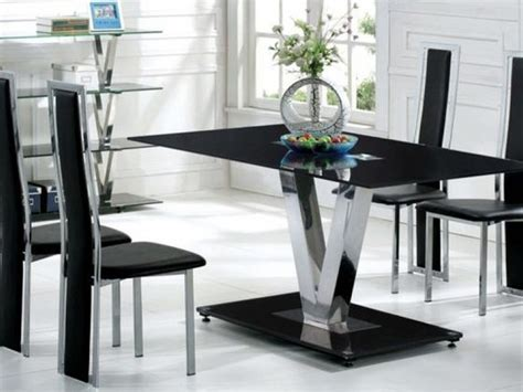 6 chair glass dining table black glass dining table and 6 black chairs set homegenies