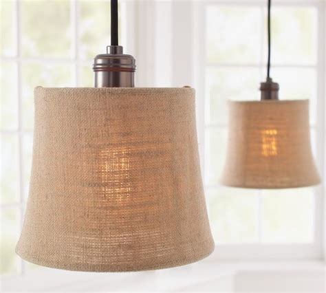 Burlap Pendant Light Burlap Shade Pendant Track Lighting Contemporary Track Heads And Pendants By Pottery Barn
