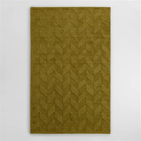 carved wool rugs sprout chevron carved wool bennet area rug world market