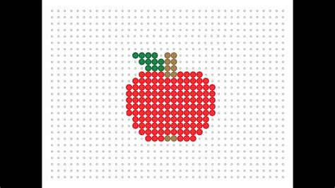 apple perler hama bead apple food series 8