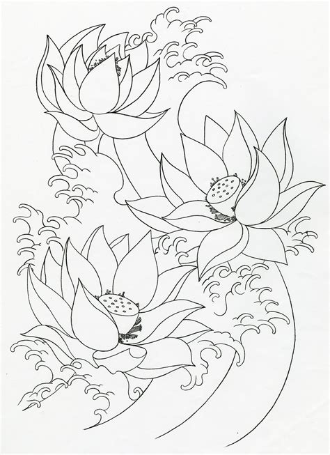 3 flower tattoo designs lotus flower tattoos
