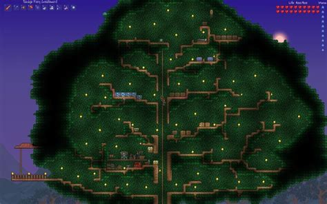 terraria tree house terraria tree house terraria builds pinterest terrarium tree houses and trees