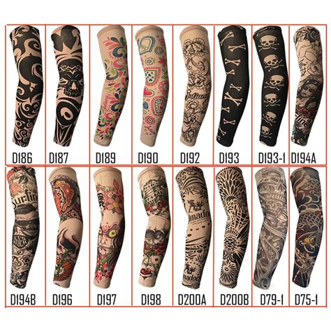 fake tattoo sleeve randomly trendy unisex outdoor sport anti uv