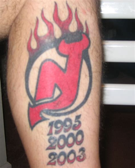 jersey devil tattoo devils stanley cup wins sports ink