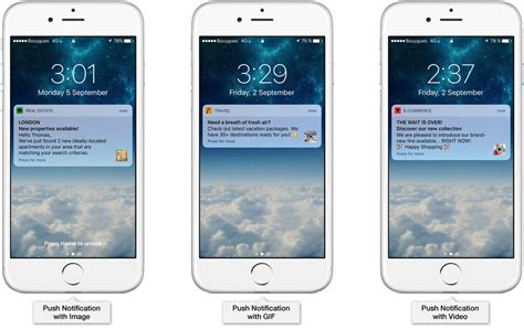 format video ios push notification formats accengage