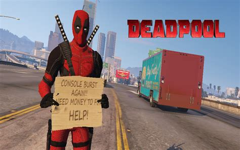 mod gta 5 deadpool deadpool movie 4k add on gta5 mods com