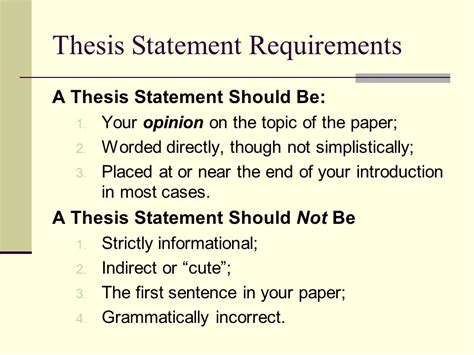 thesis statement thesis statements while many students fail to see the