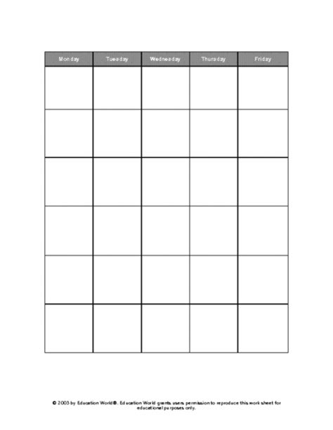 day to day calendar template 5 day calendar template printable calendar template 2018