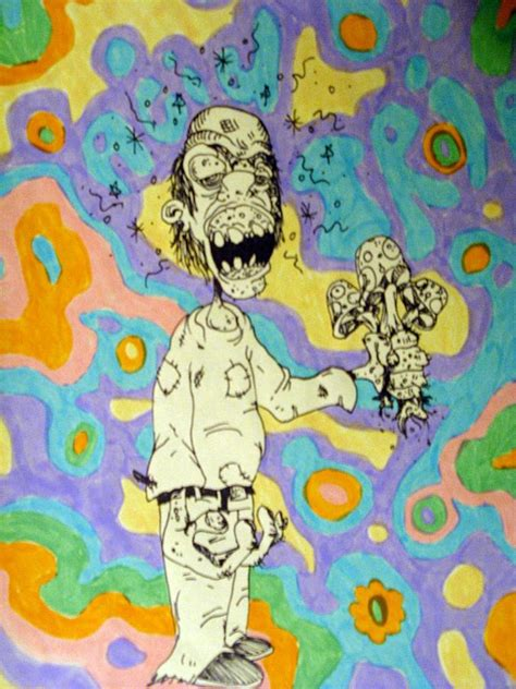 9 Drawings On Acid by Acid Trip By Michael Toth