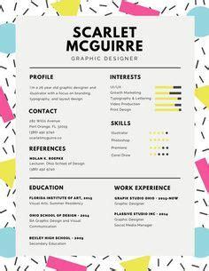colorful brush strokes creative resume resume