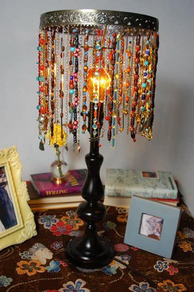 bohemian beaded lamp