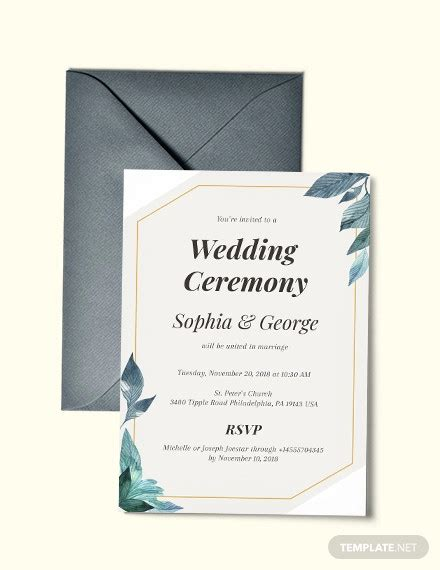 elegant wedding invitation designs psd ms