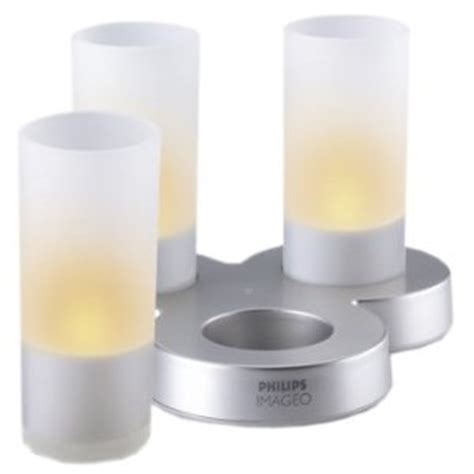 candele philips philips imageo led rechargeable candles 3 pack frosted