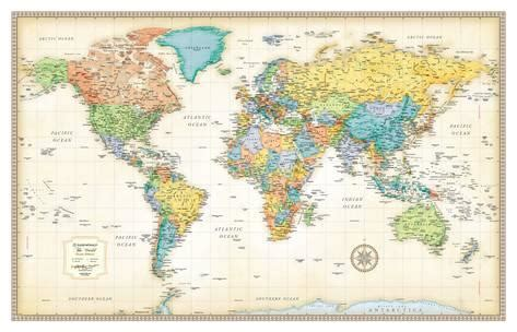 printable world map poster size rand mcnally classic world map print allposters co uk