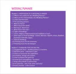 Free Wedding Planner Templates Download 13 Wedding Planner Templates Free Sample Example