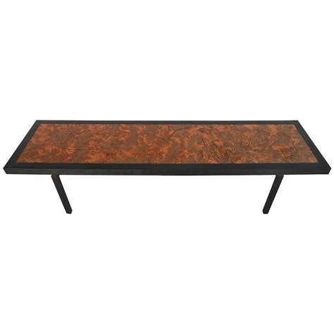 Copper Top Coffee Tables Beautiful Mid Century Modern Hammered Copper Top Coffee Table For Sale At 1stdibs