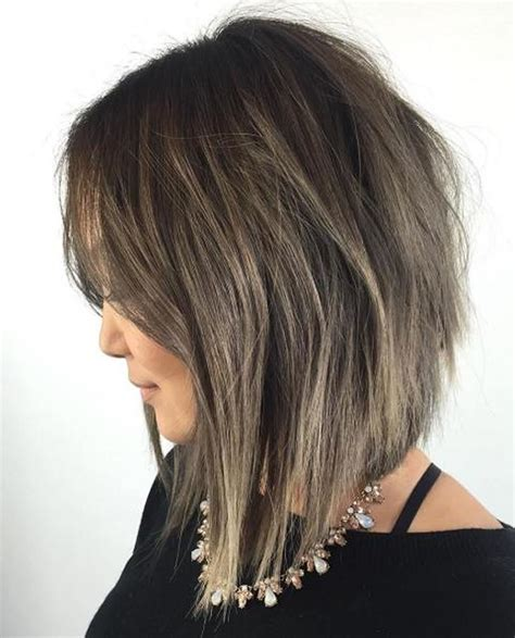 v angle in back of a med bob haircut 25 layered long bob hairstyles and lob haircuts 2018