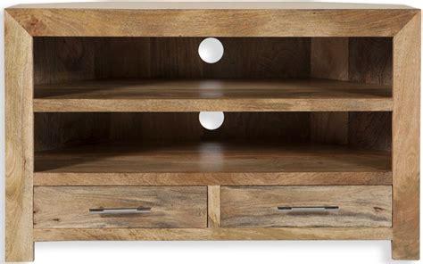 Corner Tv Cabinets Uk by Buy Cuban Mango Wood Corner Tv Cabinet Cfs Uk
