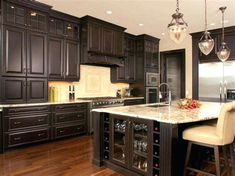 formal kitchen design with beige countertop textrue and