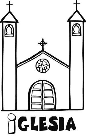 imagenes para colorear iglesia dibujo infantil de una iglesia para pintar