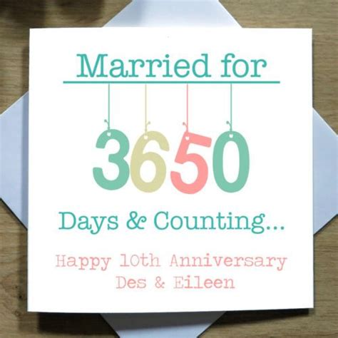 Wedding Anniversary 10th by 10 Best Married Days Anniversary Card Collection Images On