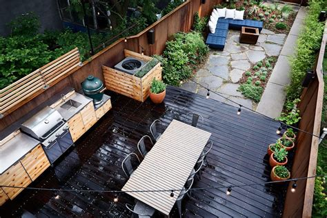 backyard bbq designs patio transitional with large