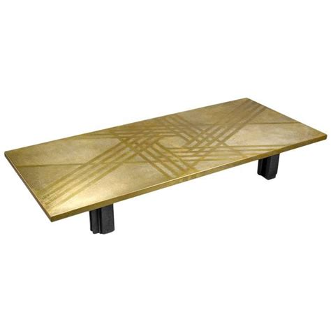 brass top coffee table by christian krekels at 1stdibs