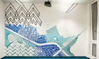 masking tape mural