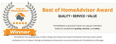 winner of the 2016 best of homeadvisor award