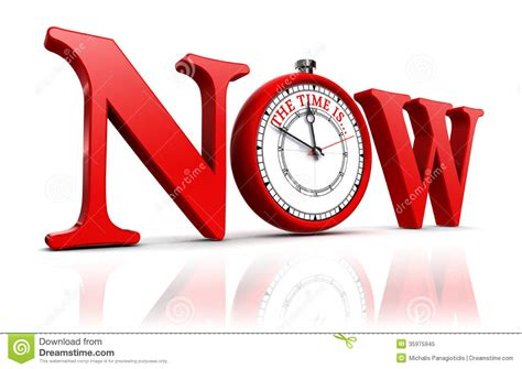 And Now A Word From by Now Word And Clock Royalty Free Stock Photo Image