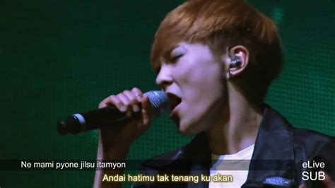 exo indo sub indo sub exo promise live oleh el youtube