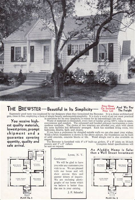 Double Wide Mobile Home Floor Plans 1940 aladdin brewster mid century minimal traditional