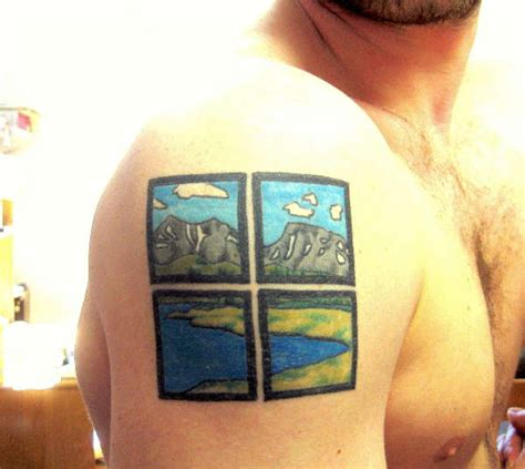 wyoming tattoos window to wyoming landscape