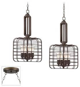 industrial style chandeliers industrial style cage bronze multi light pendant