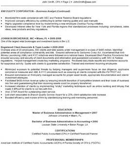 Aml Analyst Sle Resume by Pin Analyst Resume Exle Investment Specialist Financial On
