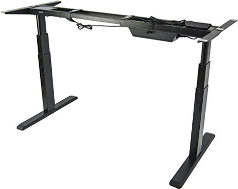 vivo black electric stand up desk frame vivo electric stand up desk frame only solid steel w dual