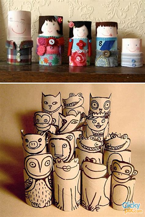 Arts And Craft With Toilet Paper Rolls - toilet paper roll crafts 9 clicky pix