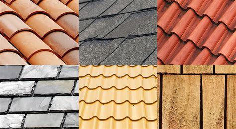 different types of roofing materials for different